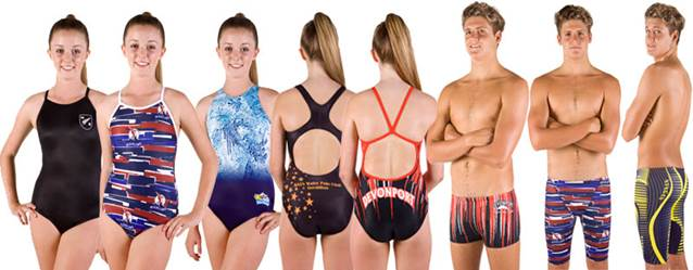 Nova can custom print your swimming club or schools colour, logos or team name onto your swimsuits.