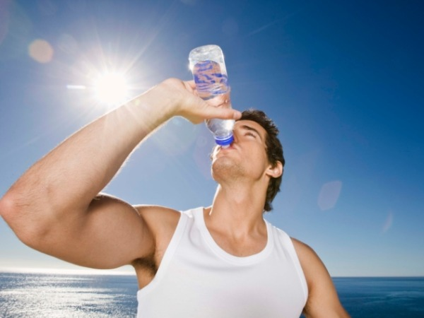 Drink plenty of water this summer