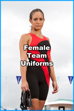 Nova Customised Female Team Uniforms for Swimming Clubs and Schools